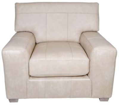 Best Chair Millport Cream Leather Chair