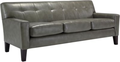 Best Chair Treynor Leather Sofa