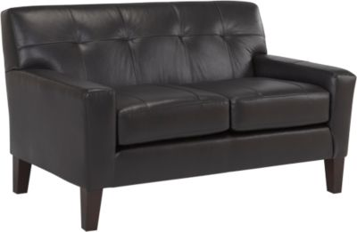 Best Chair Treynor Leather Loveseat