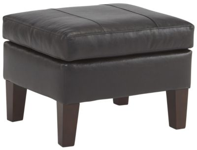 Best Chair Treynor Leather Ottoman