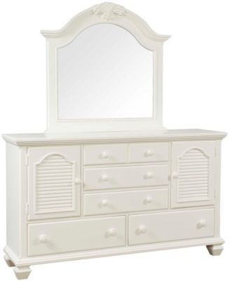 Broyhill Mirren Harbor Door Dresser with Mirror