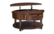 Broyhill Cappuccino Round Coffee Table