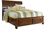 Broyhill Hayden Place Cherry Queen Sleigh Storage Bed