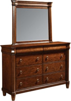Broyhill Aryell Cherry Dresser with Mirror