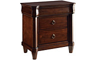 Broyhill Aryell Cherry 3-Drawer Nightstand