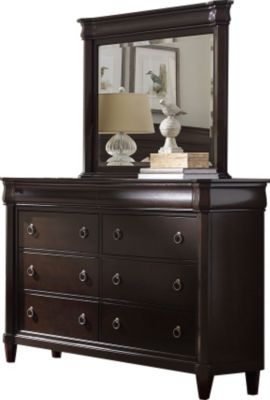 Broyhill Aryell Cacao Dresser with Mirror