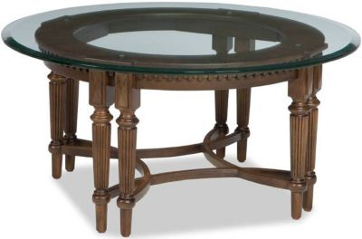 Broyhill Lyla Round Glass Coffee Table
