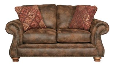Broyhill Laramie Microfiber Loveseat With Nailhead