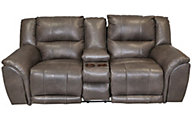 Catnapper Carmine Power Lay-Flat Loveseat with Console