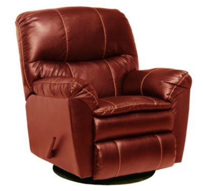 Catnapper Cosmo Bonded Leather Swivel Glider