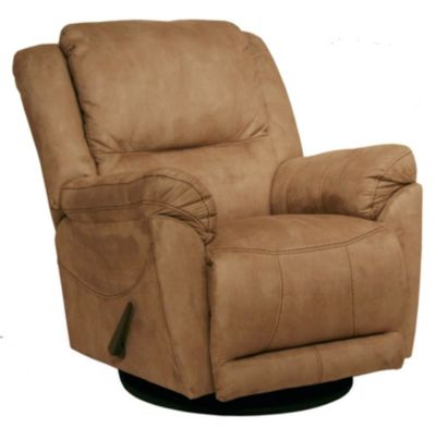 Catnapper Maverick Tan Reclining Swivel Glider