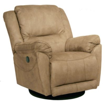 Catnapper Maverick Tan Power Reclining Swivel Glider