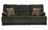 Catnapper Riley Green Reclining Sofa