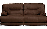 Catnapper Noble Brown Lay-Flat Power Reclining Sofa