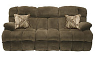 Catnapper Concord Chocolate Lay-Flat Reclining Sofa