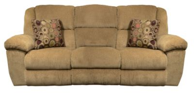 Catnapper Transformer Tan Triple Reclining Sofa