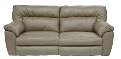 Catnapper Nolan Putty Reclining Bonded Leather Sofa