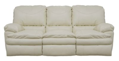 Catnapper Perez White Reclining Sofa