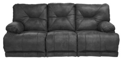 Catnapper Voyager Black Triple Recline Lay-Flat Sofa