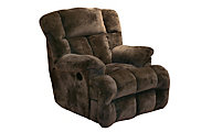 Catnapper Cloud 12 Brown Power Lay-Flat Recliner