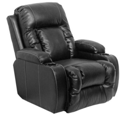 Catnapper Top Gun Black Bonded Leather Wall Power Recliner