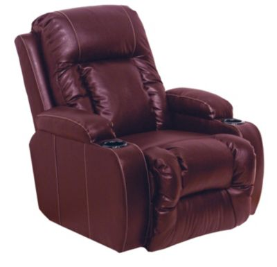 Catnapper Top Gun Cherry Bonded Leather Wall Power Recliner