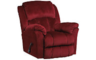 Catnapper Gibson Red Lay-Flat Recliner