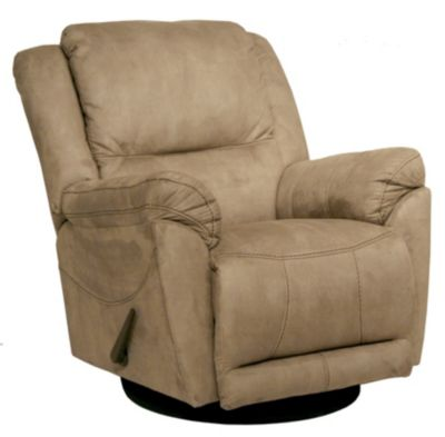 Catnapper Maverick Tan Swivel Glider Recliner
