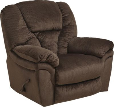 Catnapper Drew Chocolate Lay-Flat Rocker Recliner