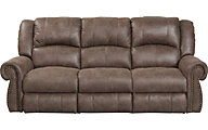 Catnapper Westin Taupe Reclining Sofa