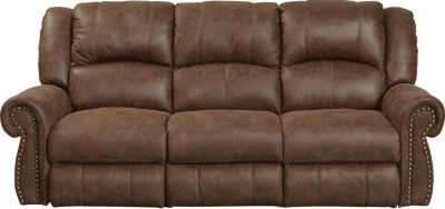 Catnapper Westin Chocolate Reclining Sofa