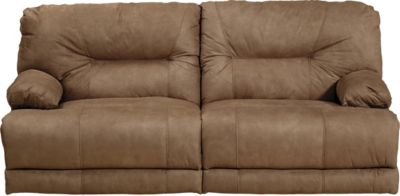 Catnapper Noble Tan Lay-Flat Reclining Sofa