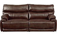 Catnapper Larkin Coffee Power Lay-Flat Reclining Sofa