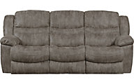 Catnapper Valliant Gray Reclining Sofa