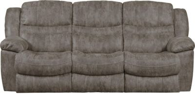 Catnapper Valiant Gray Power Sofa with Drop Down Table
