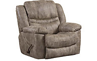 Catnapper Valliant Gray Swivel Glider Recliner
