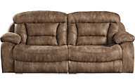 Catnapper Desmond Mocha Power Lay-Flat Reclining Sofa