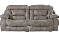 Catnapper Desmond Gray Lay-Flat Reclining Sofa