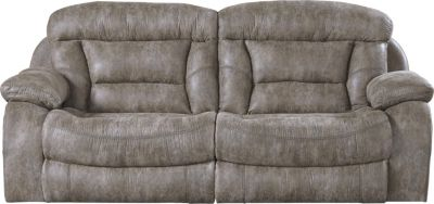 Catnapper Desmond Gray Power Lay-Flat Reclining Sofa