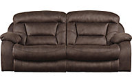 Catnapper Desmond Chocolate Lay-Flat Reclining Sofa