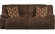 Catnapper Hammond Chocolate Reclining Sofa