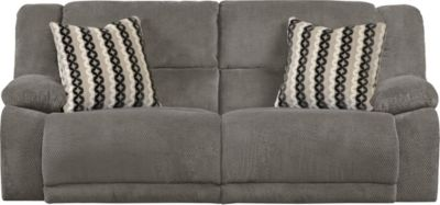 Catnapper Hammond Gray Reclining Sofa