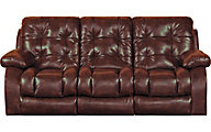 Catnapper Watson Burgundy Lay-Flat Reclining Sofa