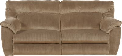 Catnapper Nichols Tan Power Lay-Flat Reclining Sofa