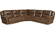 Catnapper Montgomery Chocolate 5-Piece Power Reclining Secti