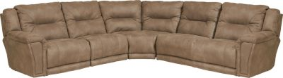 Catnapper Montgomery Cream 5-Piece Power Reclining Sectional