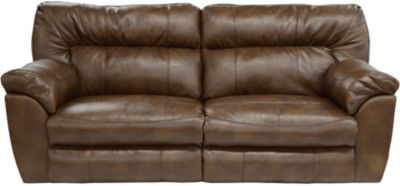 Catnapper Nolan Chestnut Bonded Leather Power Reclining Sofa