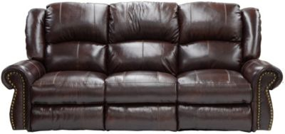 Catnapper Livingtson Leather Sofa with Drop-Down Table