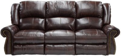 Catnapper Livingtson Leather Power Sofa with Drop-Down Table