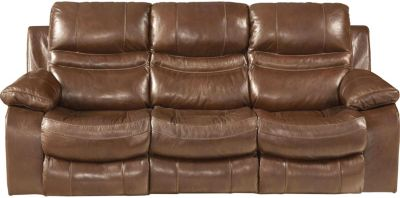 Catnapper Patton Leather Power Reclining Lay-Flat Sofa